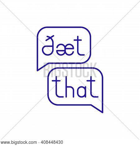 Phonetic Transcription Rgb Color Icon. Visual Speech Sounds Representation. Transcribing Process. La
