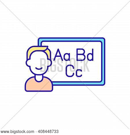 Online Educational Course Rgb Color Icon. Improving Education Skills. Teaching Techniques. Affordabl