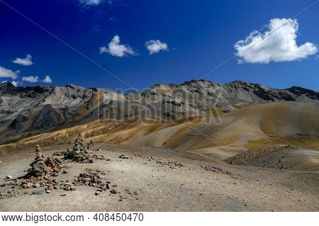 View On The Mountains Of Peru On The Ausangate Trek
