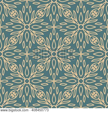 Ceramic Tiles Seamless Pattern. Geometric Pattern. Portuguese, Spanish Or Moroccan Traditional Natio