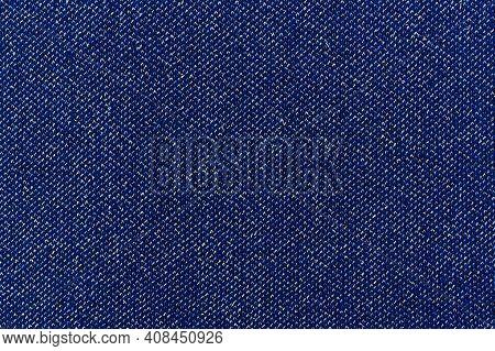 Denim Blue Jeans Fabric With Lurex. Denim Background Texture For Design. Canvas Denim. Blue Jeans Te