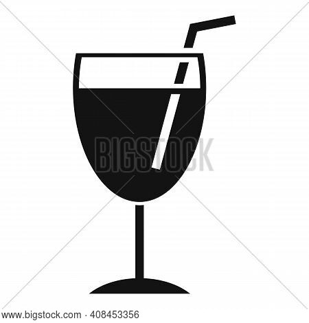 Mulled Wine Glass Icon. Simple Illustration Of Mulled Wine Glass Vector Icon For Web Design Isolated
