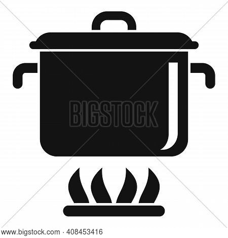 Saucepan Icon. Simple Illustration Of Saucepan Vector Icon For Web Design Isolated On White Backgrou