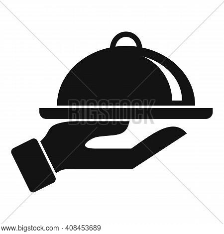Food Tray Icon. Simple Illustration Of Food Tray Vector Icon For Web Design Isolated On White Backgr