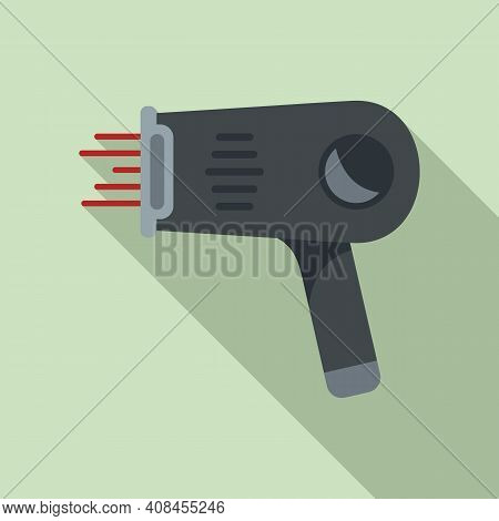 Laser Hair Removal Pistol Icon. Flat Illustration Of Laser Hair Removal Pistol Vector Icon For Web D