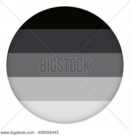 Flag Heterosexual Round Icon, Round Badge Or Button. Template Design, Vector Illustration. Love Wins