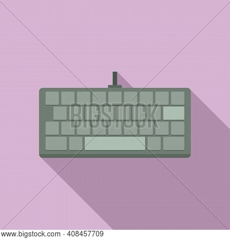 Computer Keyboard Icon. Flat Illustration Of Computer Keyboard Vector Icon For Web Design