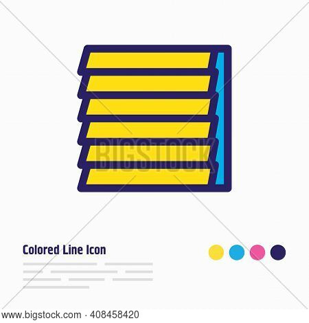 Vector Illustration Of Window Siding Icon Colored Line. Beautiful Architecture Element Also Can Be U