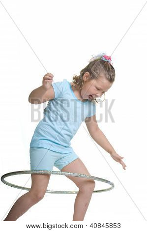 Hula hooping fun