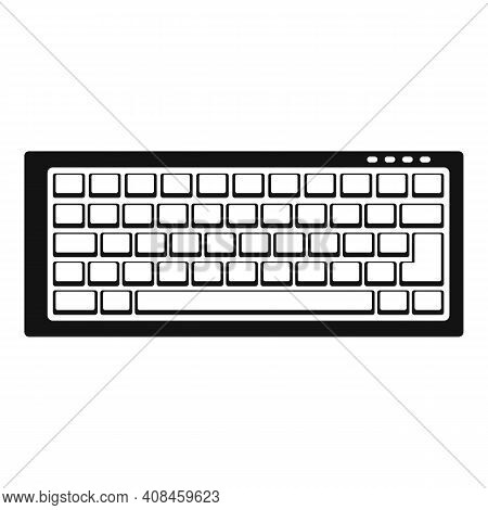 Keyboard Icon. Simple Illustration Of Keyboard Vector Icon For Web Design Isolated On White Backgrou