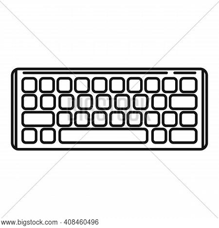 Equipment Keyboard Icon. Outline Equipment Keyboard Vector Icon For Web Design Isolated On White Bac