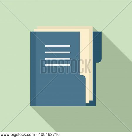 Office Manager Doc Folder Icon. Flat Illustration Of Office Manager Doc Folder Vector Icon For Web D