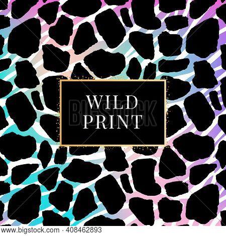 Zebra Gradient Giraffe Dalmatian Pattern, Animal Print Wild Fashion Color