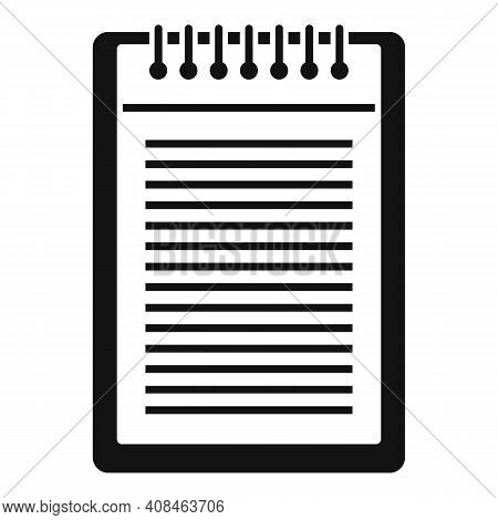 Office Manager Notepad Icon. Simple Illustration Of Office Manager Notepad Vector Icon For Web Desig