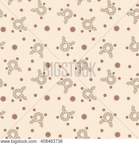 Seamless Pattern Antibacterial Protection Or Immune System. Health Bacteria Virus Protection. Health