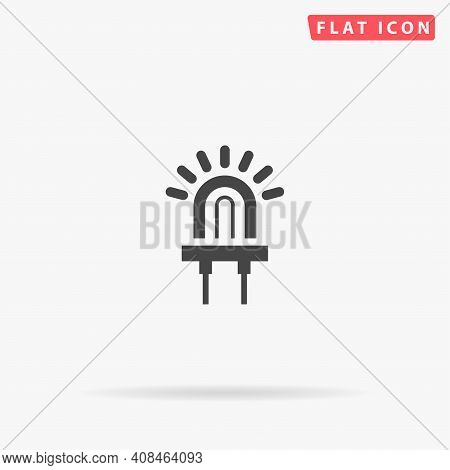 Led Diod Flat Vector Icon. Hand Drawn Style Design Illustrations.