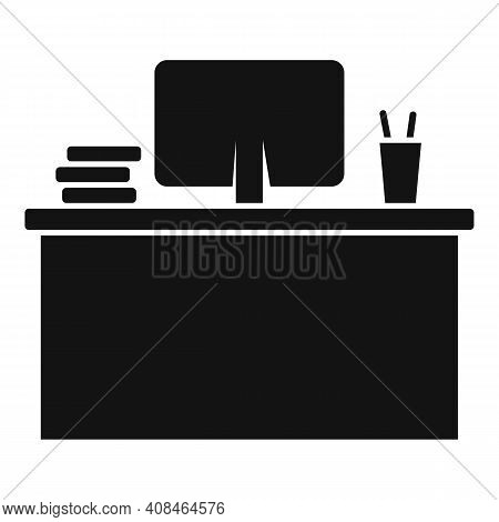 Office Manager Desktop Icon. Simple Illustration Of Office Manager Desktop Vector Icon For Web Desig