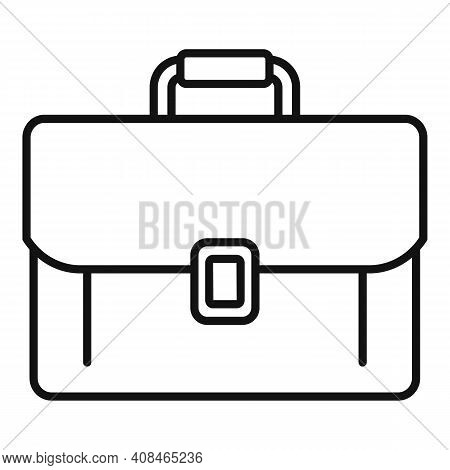 Office Manager Briefcase Icon. Outline Office Manager Briefcase Vector Icon For Web Design Isolated