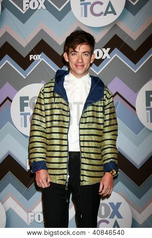 PASADENA, CA - JAN 8:  Kevin McHale attends the FOX TV 2013 TCA Winter Press Tour at Langham Huntington Hotel on January 8, 2013 in Pasadena, CA