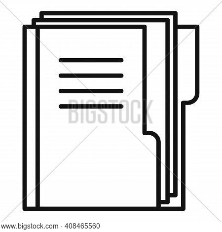 Office Manager Doc Folder Icon. Outline Office Manager Doc Folder Vector Icon For Web Design Isolate