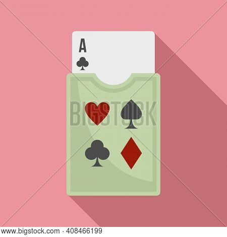 Casino Play Cards Icon. Flat Illustration Of Casino Play Cards Vector Icon For Web Design