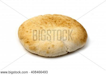 Puccia Salentina, A Traditional Bread From The Salento Region In Apulia, Italy. It Is Usually Eaten