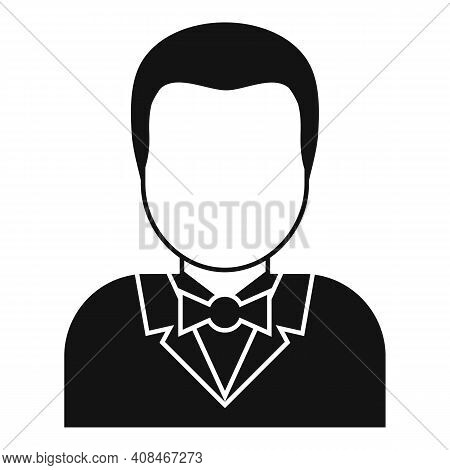 Croupier Icon. Simple Illustration Of Croupier Vector Icon For Web Design Isolated On White Backgrou