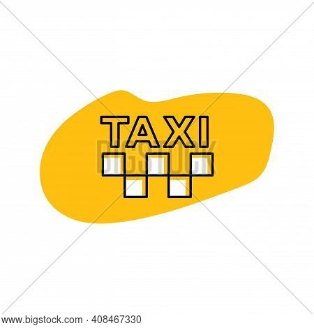 Taxi Icon Yellow Sign Illustration Vector. Cab Icon.