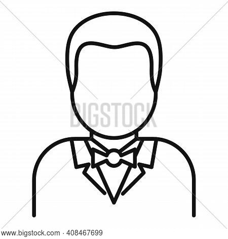 Croupier Icon. Outline Croupier Vector Icon For Web Design Isolated On White Background