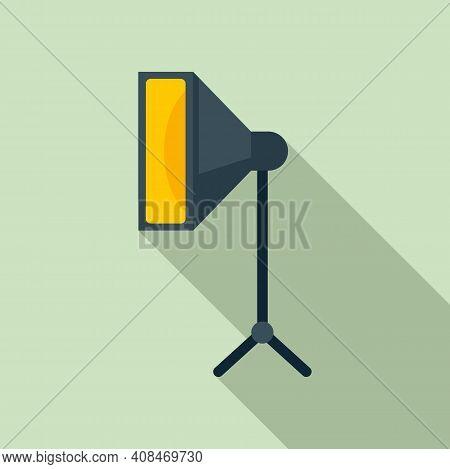 Tv Studio Light Icon. Flat Illustration Of Tv Studio Light Vector Icon For Web Design