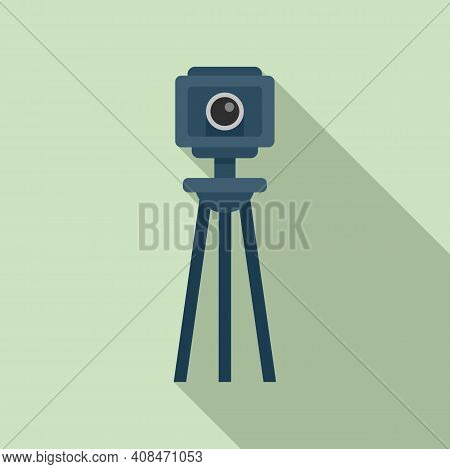Tv Retro Camera Icon. Flat Illustration Of Tv Retro Camera Vector Icon For Web Design