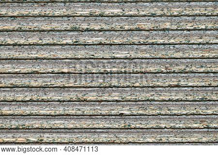 Oriented Strand Board. Multi-layer Sheet Made Of Resin Bonded Wood Chips. Osb Texture. Materials For