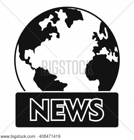 Tv Global News Icon. Simple Illustration Of Tv Global News Vector Icon For Web Design Isolated On Wh