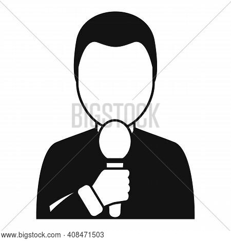 Tv Presenter Icon. Simple Illustration Of Tv Presenter Vector Icon For Web Design Isolated On White