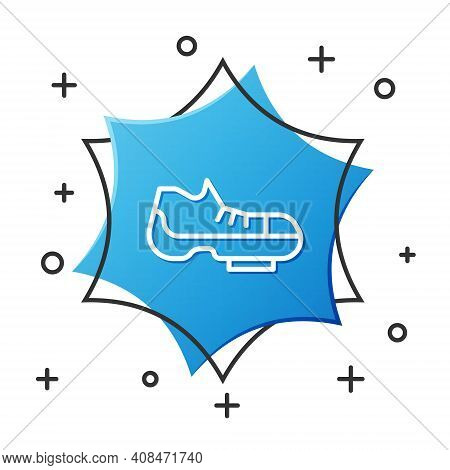 White Line Triathlon Cycling Shoes Icon Isolated On White Background. Sport Shoes, Bicycle Shoes. Bl