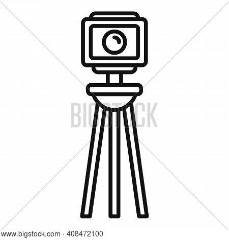 Tv Retro Camera Icon. Outline Tv Retro Camera Vector Icon For Web Design Isolated On White Backgroun