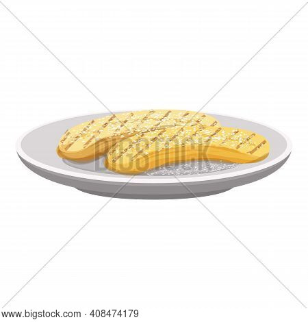 Eclairs Icon. Cartoon Of Eclairs Vector Icon For Web Design Isolated On White Background
