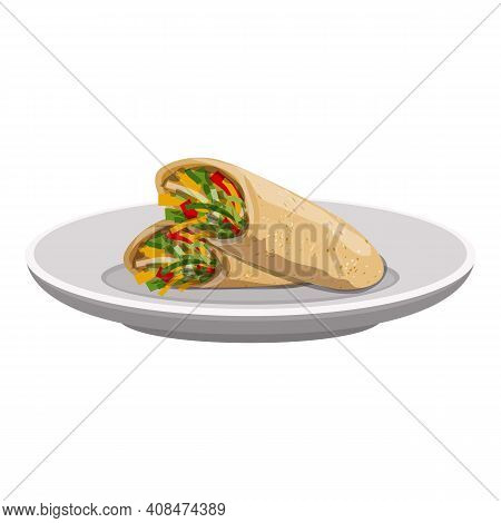 Shawarma Icon. Cartoon Of Shawarma Vector Icon For Web Design Isolated On White Background