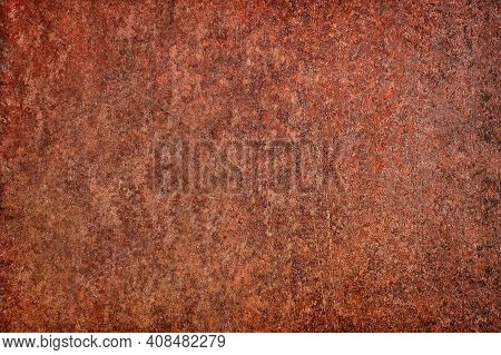 Rustic Background, Rusty Metal. Old Steel Plate Texture. Industrial Metal Texture. Grunge Rusted Met