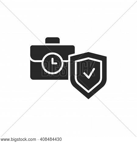 Business Interruption Insurance Color Line Icon. Isolated Vector Element.