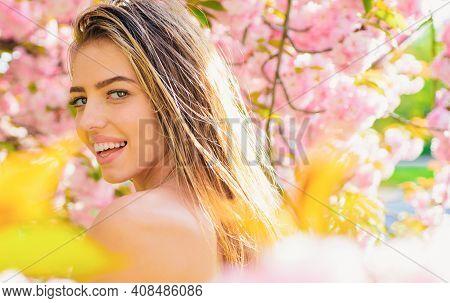 Beautiful Woman Face With Healthy Skin. Cosmetics. Skincare. Beauty Treatment. Spa, Wellness.