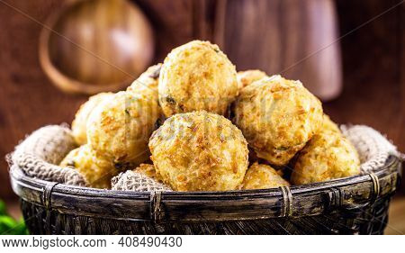 Codfish Cakes, Codfish Cakes, Fish Meat Pastries, Brazilian Cod Bunuelos, Typical Of Easter