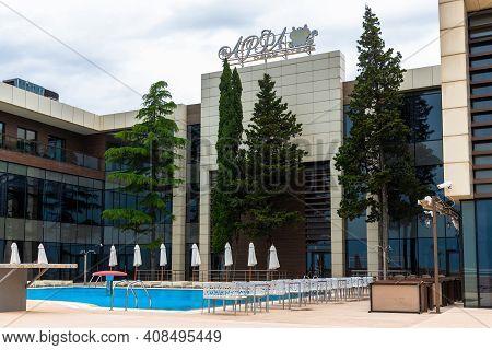 Sochi, Russia - May 30. 2018 The Resort Park Hotel Arfa