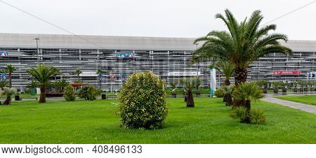 Sochi, Russia - May 30. 2018 The Sports Car Museum In The Autodrome Building