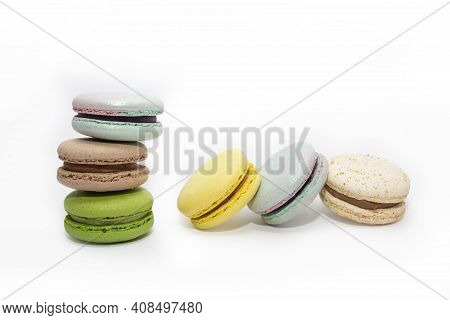 French Crash Macarons. Colorful Macaroons. Airy Macaroons.