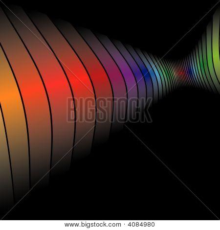 3D Rainbow Bars Wall