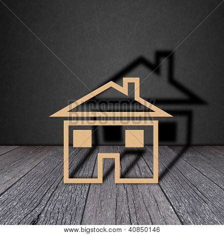Paper House On Wood