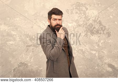 Grow Facial Hair. Hipster Appearance. Stylish Beard And Mustache. Man Bearded Hipster Fashionable Co