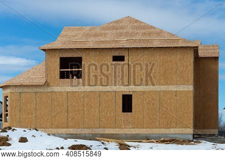 The Roof Is Covered With Plywood Wooden Sky New Wall