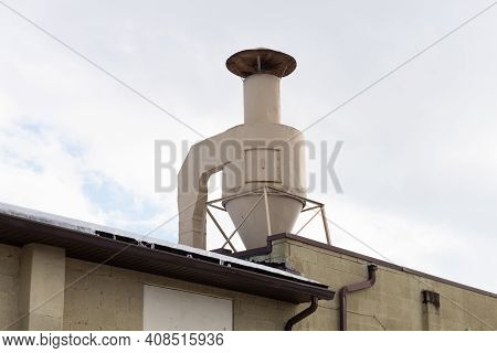 Roof Exhaust Pipe Metal Air Smoke City